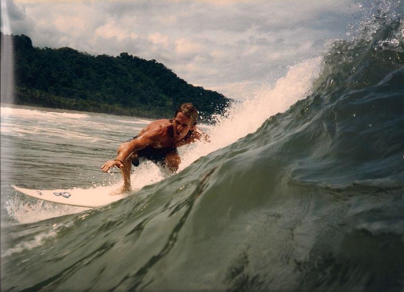 Gary surfing in Costa Rica